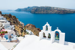 White church on Santorini island, Greece Royalty Free Stock Photo