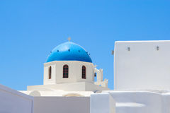 White church on Santorini island in Greece Royalty Free Stock Images