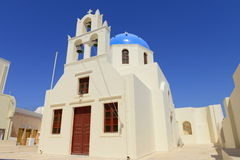 White church on Santorini island, Greece Royalty Free Stock Photography