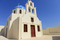 White church on Santorini island, Greece Royalty Free Stock Photos