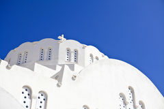 White Church. On Santorini oia Stock Images