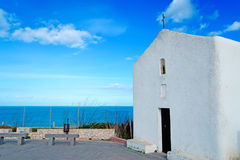 White church by the sea Stock Image