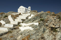 White Church in Serifos Royalty Free Stock Photo