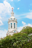 White church spire Royalty Free Stock Photography