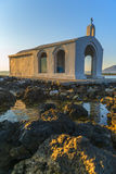 White Church By Sunrise In Crete Stock Photography