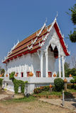 White church. Temple in Thailand Royalty Free Stock Images