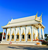 White church at the temple, Thailand Stock Image