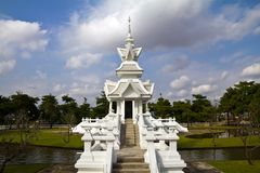White church, thai style Royalty Free Stock Photos