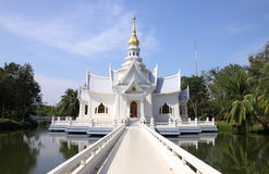 White church in Thailand Stock Photos