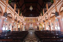 A White Church in thailand Stock Photography