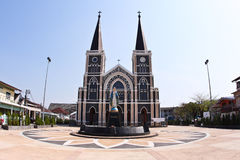 A White Church in thailand Stock Photo