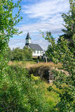 White church in Thingvellir Royalty Free Stock Photo