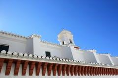 White church, typical for the Alpujarras, Spain Stock Photos