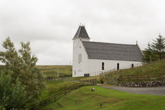 White church, Isle of Skye, Scotland. Stock Photos