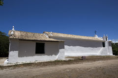 White church under the blue sky, in Bahia, Brazil Royalty Free Stock Images
