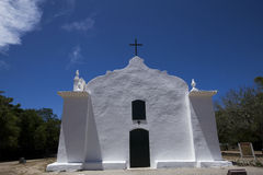 White church under the blue sky, in Bahia, Brazil Royalty Free Stock Photography