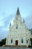 White spire Church Royalty Free Stock Image