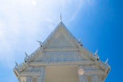 White church, Wat Laem Sing, Chanthaburi, Thailand Royalty Free Stock Photos
