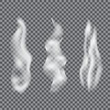 White cigarette smoke or vapour special effect. vector illustration