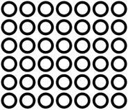 White circle on black background. image for background royalty free illustration