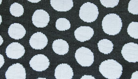 White circle in black color carpet,rug texture background,Ready forReady for product display montage. Stock Photography