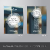 White circle and blur background brochure flyer design layout te Royalty Free Stock Photo