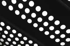 White Circle Dot of light hole abstract stock illustration