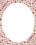 White circle frame background with decorated design borders royalty free illustration