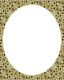 White circle frame background with decorated design borders Stock Photo