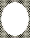 White circle frame background with decorated design borders Stock Image