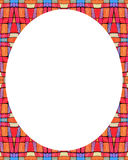 White circle frame background with decorated design borders Stock Images