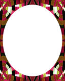 White circle frame background with decorated design borders Royalty Free Stock Photo