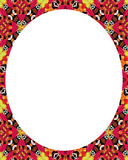 White circle frame background with decorated design borders Royalty Free Stock Image