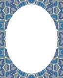 Circle Frame Background with Decorated Borders. White circle frame background with decorated design borders Royalty Free Stock Images