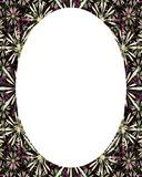 Circle Frame Background with Decorated Borders. White circle frame background with decorated design borders Stock Images