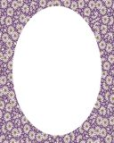 Circle Frame Background with Decorated Borders. White circle frame background with decorated design borders Stock Photography