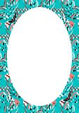 White Frame Background with Decorated Rounded Borders