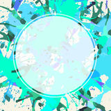 White circle over artistic paint splashes Stock Images