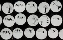 White circle shapes Stock Image
