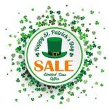 White Circle St Patricks Day Sale Royalty Free Stock Image