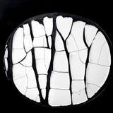 White circle sticker cracked Royalty Free Stock Image