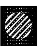 The white circle with stripes on a black rectangle Stock Image