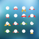 White circle tags clip-art on color background Stock Photography