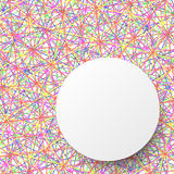White circle template on colorful line abstract design background. 1 Stock Photos