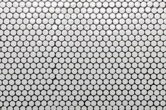 White circle tile pattern as background Stock Image