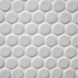 White circle tile pattern Stock Photography