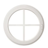 White circle window frame isolated on white background. Template design Royalty Free Stock Photo