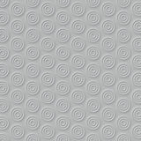 White circles abstract surface pattern. 3d rendering Stock Photo