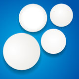 White circles on blue Royalty Free Stock Image