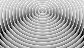 White circles. Concentric circles as widening ripples or walls Stock Images